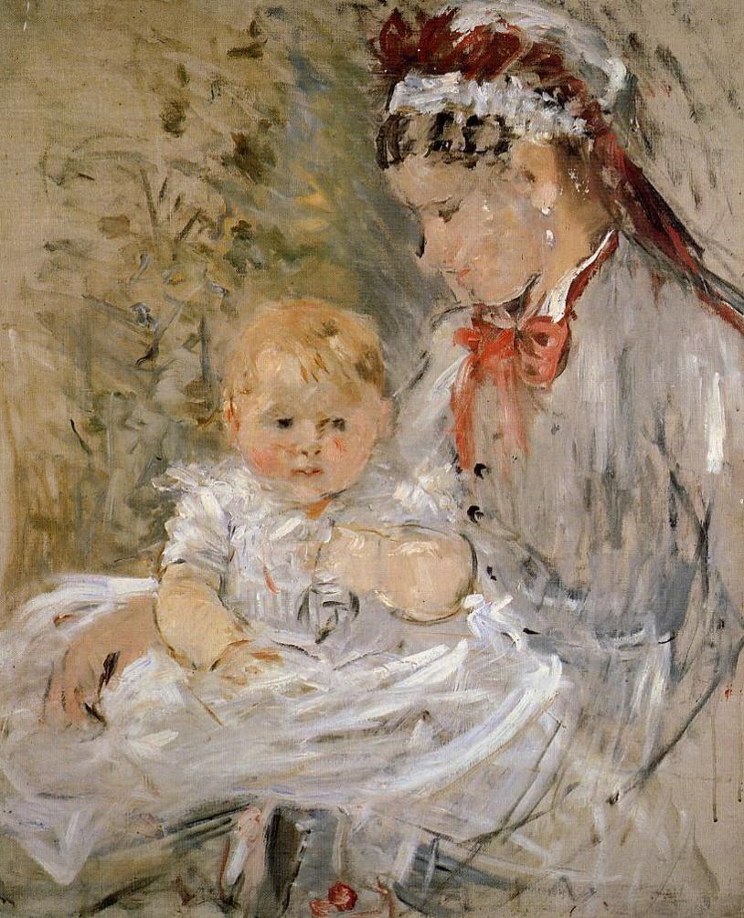 Berthe-Morisot-Julie-Manet-and-Her-Nurse-1880