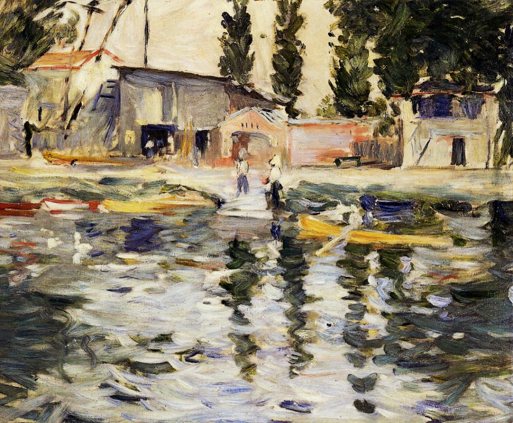 Berthe-Morisot-The-Seine-at-Bougival-1884