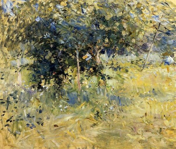 erthe-Morisot-Willows-in-the-Garden-at-Bougival-1884