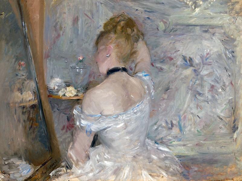 Berthe-Morisot-Berthe Morisot-Woman-at-Her-Toilette-1880